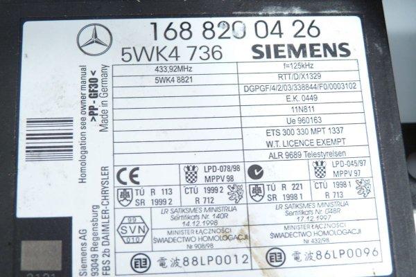 Komputer immobilizer przepustnica Mercedes A-Klasa W168 2003 1.6i