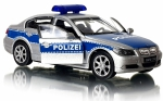 BMW 330i POLIZEI Welly METALOWY MODEL 1:34