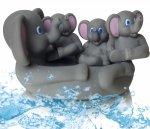 SŁONIKI Gumowe ZABAWKI do Kąpieli WODY Słoń PISZCZKI