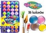 FARBY Akwarelowe Szkolne 36 kolorów COLORINO 67324