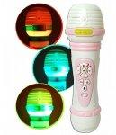 MIKROFON dla Dzieci 8 PIOSENEK Światło NAGRYWA Zmienia Głos