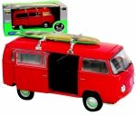 METALOWY Volkswagen Bus T72 1972r MODEL Welly