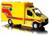 MERCEDES-BENZ Sprinter AMBULANS METALOWY MODEL Welly 1:34