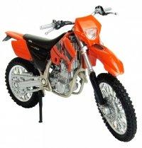MOTOR KTM 525 EXC MOTOCYKL Welly 1:18 ŚCIGACZ