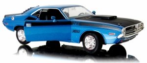 METALOWY MODEL 1970 DODGE Challenger T/A Welly 1:24