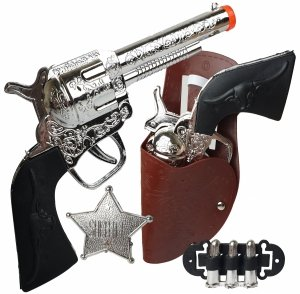 Pistolet 2 x REWOLWER Kowbojski Zestaw KABURA