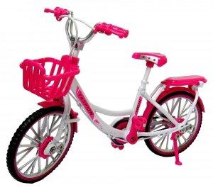 DAMKA MIEJSKI Rower METALOWY Model 1:10 Różowy