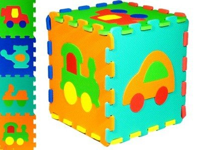 Puzzle PIANKOWE Pojazdy 32 x 32 BEZ FORMAMIDU Mata