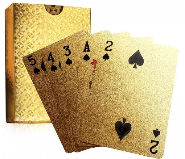 ZŁOTE KARTY do gry GOLD Ekskluzywna TALIA 54 szt.