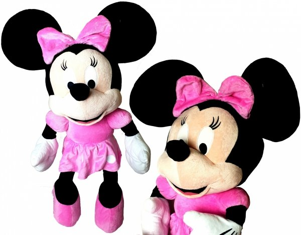 Wielka Pluszowa MYSZKA MINNIE Róż Maskotka Disney 80 cm