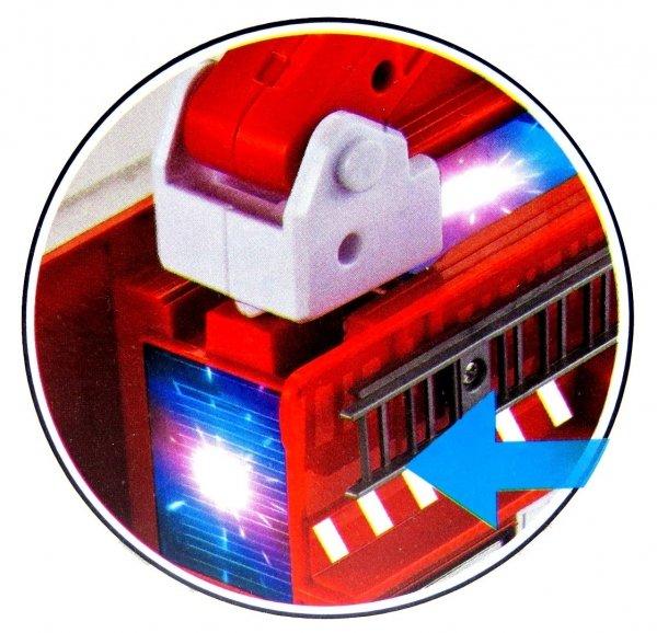 STRAŻ POŻARNA Wóz Strażacki Auto Światło DŹWIĘK Ruchomy Wysięgnik