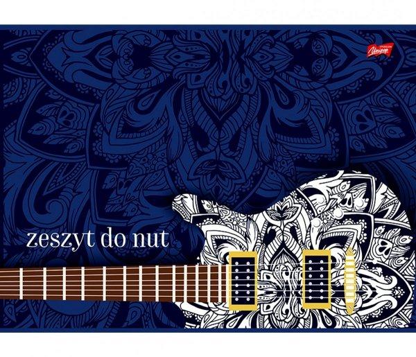 ZESZYT DO NUT Gitara A5 16 Kartkowy