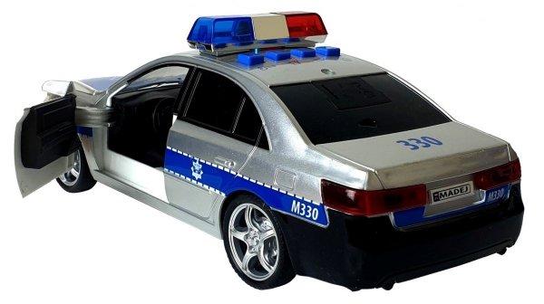 POLICJA Auto 1:16 Samochód ŚWIATŁO DŹWIĘK