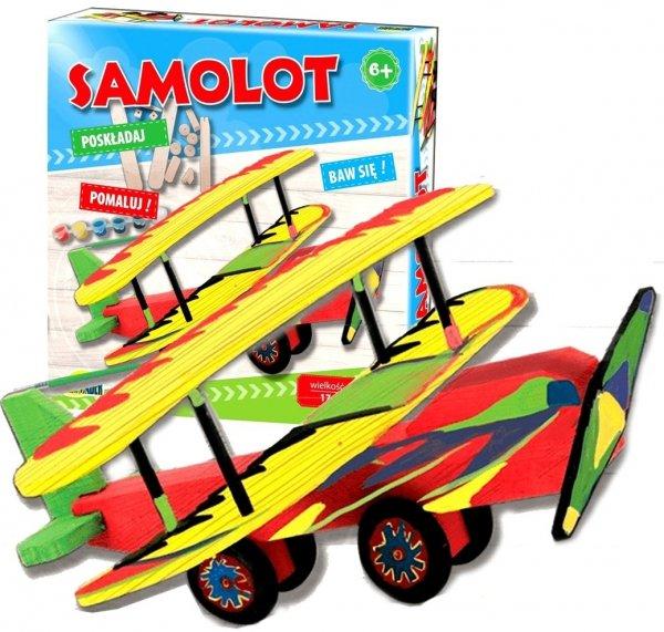 Drewniany SAMOLOT do Złożenia Zrób To Sam