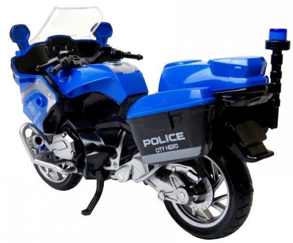 Motor z Napędem POLICJA Motocykl ŚWIATŁO DŹWIĘK