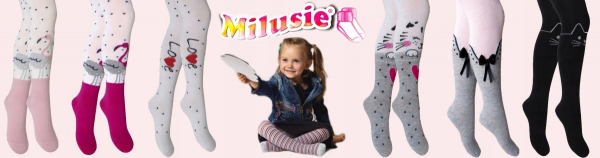 RAJSTOPY Dziecięce MYSZKI Róż 92/98 Milusie PL