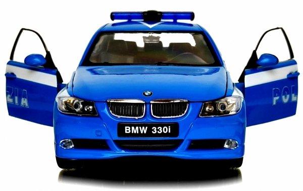 BMW 330i POLIZIA Auto Welly METALOWY MODEL 1:24
