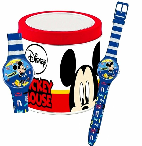 MICKEY Zegarek na Ręke ANALOGOWY w Pudełku Myszka Miki