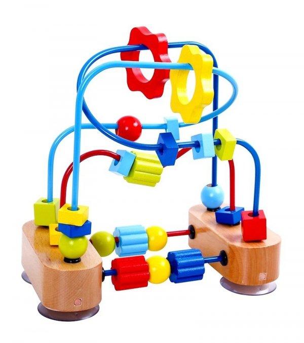 Drewniana PRZEKŁADANKA z Przyssawkami LABIRYNT Tooky Toy