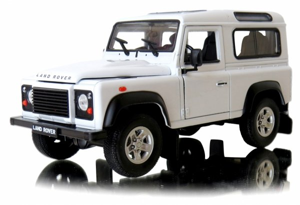 METALOWY MODEL LAND ROVER DEFENDER AUTO Welly 1:24