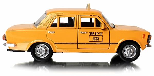 METALOWY Fiat 125p 1313 WPT TAXI TAKSÓWKA Welly
