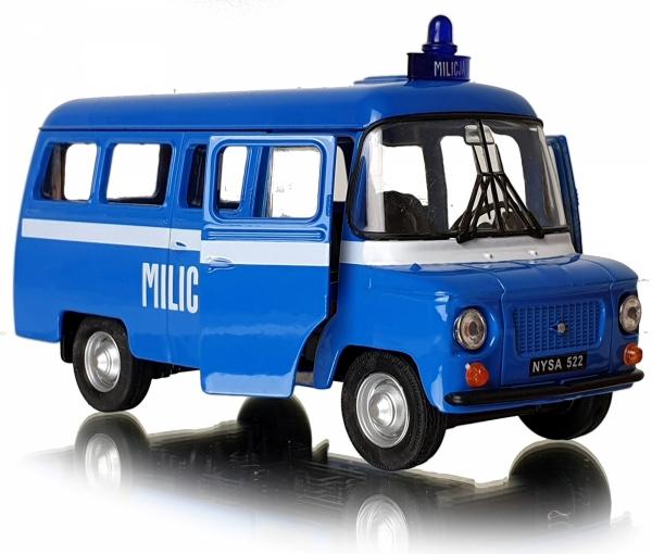 MILICJA Samochód PRL Auto NYSA 522 Welly 1:34