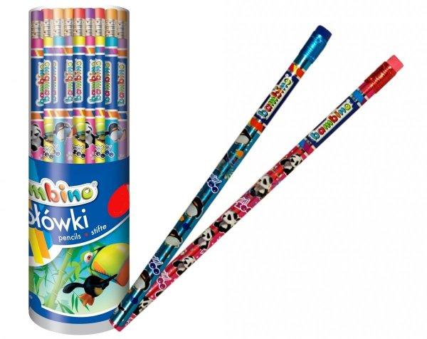 Bambino OŁÓWEK szkolny z Gumką KOLOROWY Grafitowy