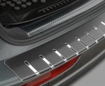 BMW X5 II (E70) 2006-2010 Nakładka na zderzak z zagięciem (stal + folia karbonowa)