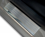 VW TOUAREG II od 2010 Nakładki progowe - stal + poliuretan [ 4szt ]