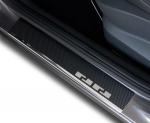 FORD C-MAX 2003-2010 / FOCUS II 5D HB 2005-2010 / KUGA 2008-2012 Nakładki progowe - stal + folia karbonowa [ 4szt ]