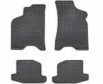 Dywaniki gumowe czarne SEAT Arosa 1997-2005 / VW Lupo 1998-2005