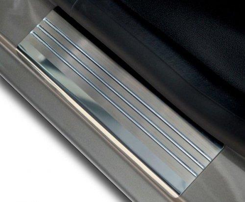 FORD FIESTA VI 3D HATCHBACK 2002-2008 Nakładki progowe - stal + poliuretan [ 2szt ]
