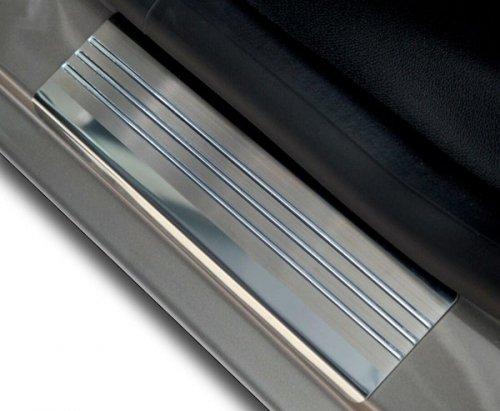 FORD C-MAX II od 2010 Nakładki progowe - stal + poliuretan [ 4szt ]