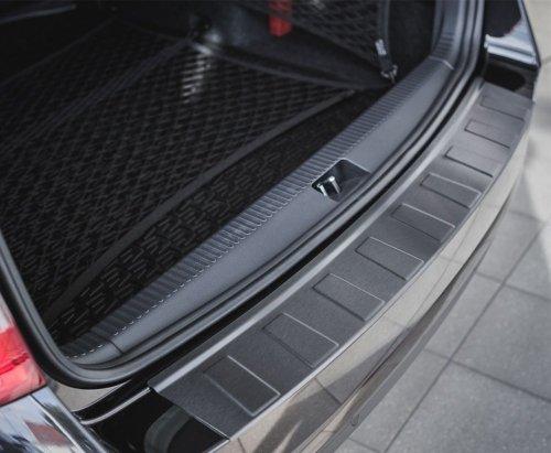 BMW 3 F30 4D SEDAN 2011-2015 Nakładka na zderzak TRAPEZ Czarna szczotkowana