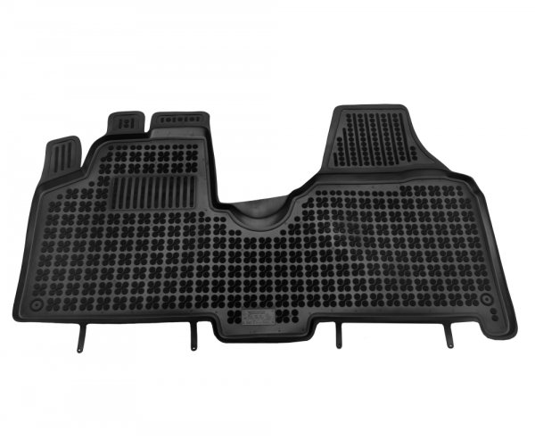 Dywaniki korytka gumowe Citroen Jumpy II / Fiat Scudo II / Peugeot Expert II 2007-2016 / Toyota ProAce od 2013 wersja samochodu z wykładziną welurową na podłodze