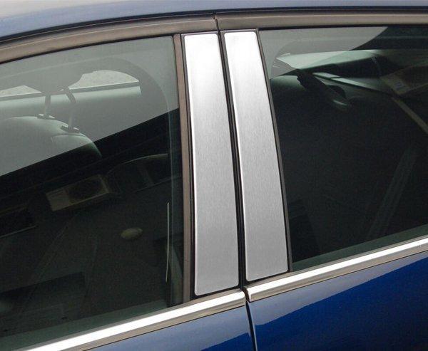 SKODA RAPID 4D SEDAN | SPACEBACK od 2012 Nakładki na słupki drzwi (aluminium) [ 2szt ]