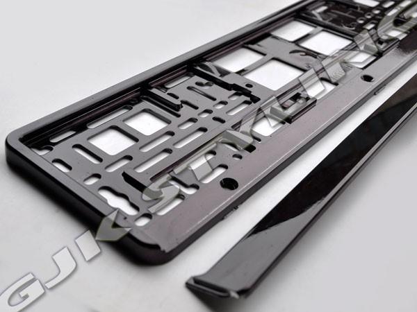 Ramka pod tablice rejestracyjną Metalizowana Czarna