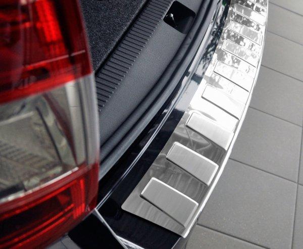 AUDI A6 C7 Sedan 2014-2017 Nakładka na zderzak TRAPEZ Satin