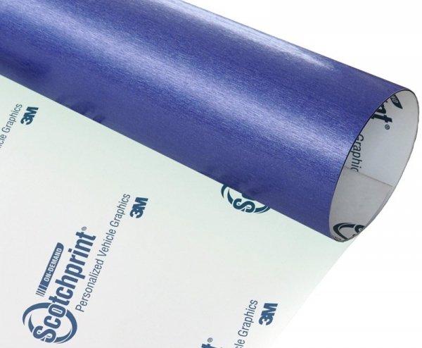 Folia szczotkowana niebieska stal 3M BR217 60x50cm