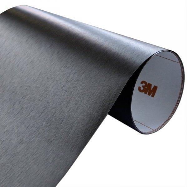 Folia Szczotkowane Aluminium Czarne 3M ME1175 122x400cm