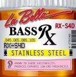 La Bella RX-S4D 45-105 stalowe struny do basu 4 strunowego