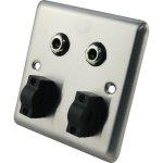 Roxtone RWPS003 panel podtynkowy 2x jack 6,3 mm