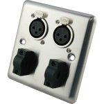 Roxtone RWPS005 panel podtynkowy 2x XLR F