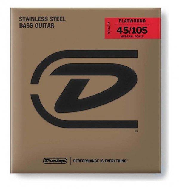 Dunlop DBFS045105 struny basowe stal flaty 45-105 skala długa