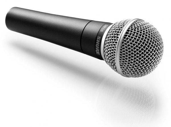 SHURE SM58 KM SOM mikrofon statyw, kabel