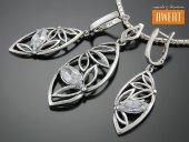 MACON CRYSTAL srebrny komplet biżuterii z cyrkoniami
