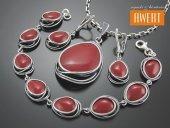 SHALIMAR srebrny komplet biżuterii z kwarcem