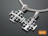 Krzyżyk srebrny Krzyż Jerozolimski