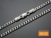 PANCERKA łańcuszek srebrny oksydowany 60 cm / 2,9 mm