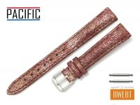 PACIFIC 14 mm pasek skórzany W123 bordowy